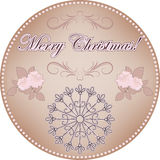 Merry Christmas vintage label Royalty Free Stock Photography