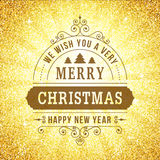 Merry christmas vintage line art background. Stock Images