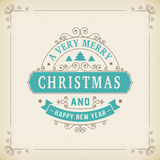 Merry christmas vintage ornament on paper background Royalty Free Stock Images