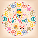 Merry Christmas vintage retro card Royalty Free Stock Images