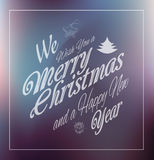 Merry Christmas Vintage retro typo background f. Or your greetings or invitation covers Stock Photography