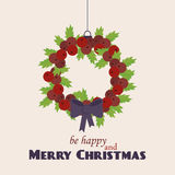 Merry Christmas Vintage Retro Typography Lettering Design Greeting Card on simple background. Stock Photo