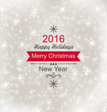 Merry Christmas Vintage Retro Typography Lettering Royalty Free Stock Photography