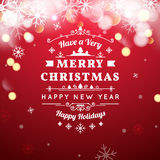 Merry Christmas Vintage Retro Typography Lettering Royalty Free Stock Photo