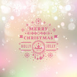 Merry Christmas Vintage Retro Typography Lettering Stock Photo