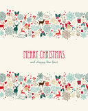 Merry Christmas vintage seamless pattern Stock Photo