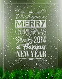 2014 Merry Christmas Vintage typo background. Merry Christmas Vintage retro typo background for your greetings or invitation covers Royalty Free Stock Photography