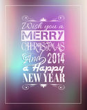 2014 Merry Christmas Vintage typo background Stock Photography