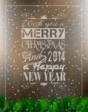2014 Merry Christmas Vintage typo background Stock Images
