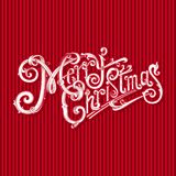 Merry Christmas vintage vector logo. Nice holiday gift. Royalty Free Stock Photography