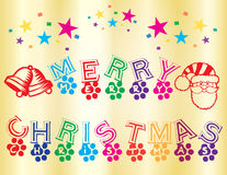 Merry Christmas Wallpaper. A Colourful Merry Christmas wallpaper Royalty Free Stock Image