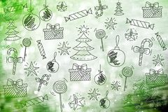 Merry Christmas wallpaper, pattern, background happy new year. Toys Stock Images