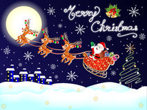 Merry Christmas Wallpaper Royalty Free Stock Images