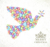 Merry Christmas watercolor spot  peace dove Royalty Free Stock Images