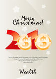 Merry Christmas Wealth. Vector Drawing Royalty Free Stock Photo