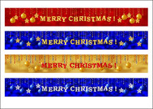 Merry Christmas web banner set Stock Images