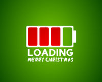 Merry christmas web card concept Stock Images