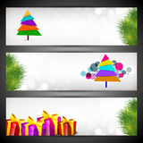 Merry Christmas website header or banner set. Stock Photography