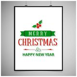 Merry Christmas with white frame. For web design and application interface, also useful for infographics. Vector illustration vector illustration
