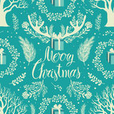Merry Christmas White trees background Stock Images