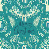 Merry Christmas White trees background Stock Photos
