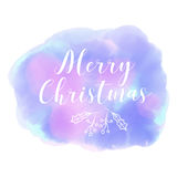 Merry Christmas. Winter.Abstract background watercolor style. Merry Christmas. Winter. Abstract blured blue background watercolor style Royalty Free Stock Photo