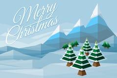 Merry Christmas Winter Background Scene Stock Photos