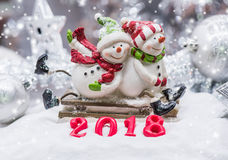 Merry Christmas and Winter decoration. Merry Christmas and Happy New Year deocration Stock Photos