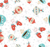 Merry Christmas winter holiday seamless pattern Royalty Free Stock Photography