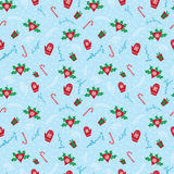 Merry Christmas winter holidays pattern Stock Photos