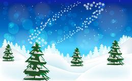 Merry Christmas Winter Landscape. Royalty Free Stock Image