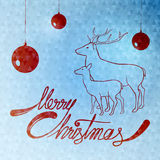 Merry Christmas winter quotes illustration Royalty Free Stock Photo