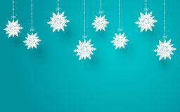 Merry Christmas and winter season with paper cut snow flake, Merry Christmas design,vector illustration vector illustration