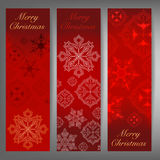 Merry Christmas and winter theme web banners. Vector illustration Royalty Free Stock Photo