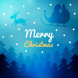 Merry Christmas wish card Stock Images