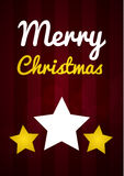 Merry Christmas wish card Royalty Free Stock Image