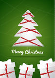 Merry Christmas wish card Stock Image