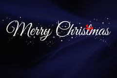 Merry christmas. Wish everyone a merry christmas with this simple image. Blue background with white text and sparkles Stock Images