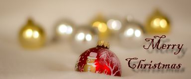 Merry Christmas and a wish for a good New Year Royalty Free Stock Image