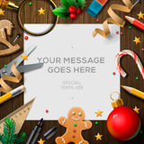 Merry Christmas wish list, letter for Santa Claus Royalty Free Stock Photography