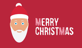 Merry christmas wish on red background card  Stock Photo