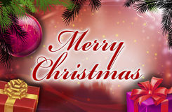 Merry christmas wishes. With background Royalty Free Stock Image