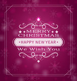 Merry Christmas Wishes. Illustration Merry Christmas Wishes, Typography Design. Celebration Card Frame - Vector royalty free illustration