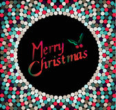 Merry Christmas wishes with multicolored bubbles. Merry Christmas  text - greeting card or background  illustration Stock Photo
