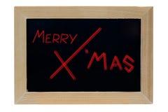 Merry christmas wood photo frame isolate white background Stock Photo