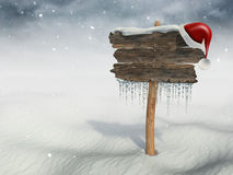 Merry Christmas wood sign Stock Images