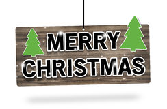 Merry Christmas Wood Sign Royalty Free Stock Photography