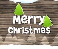 Merry Christmas Wood Texture Background Stock Photography