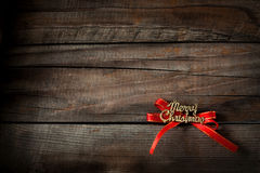 Merry christmas. On wooden background Stock Photography