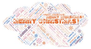 Merry Christmas word cloud - Merry Christmas on English language and other different languages. Merry Christmas word cloud - Merry Christmas on English language stock images